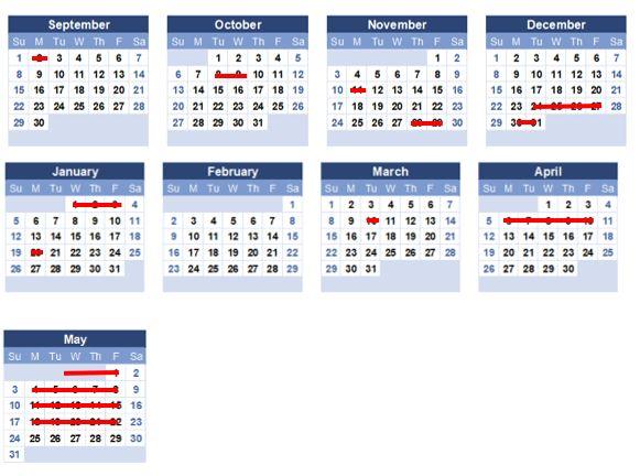 Fall Academic Calendar 2020.2019 2020 Academic Calendar And Weekly Schedule Manary Academy